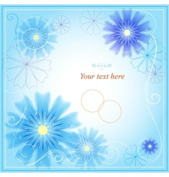 Invitation card with abstract floral background vector image