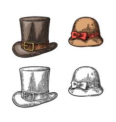 ladies and gentlemen hat vector image vector image