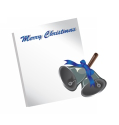Merry Christmas letter or wish list vector image vector image