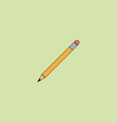 pencil icon in flat style vector image vector image