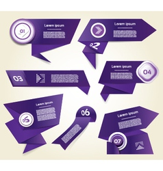 Set of blue-violet progress version step icons vector image vector image