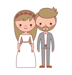 wedding couple icon vector image