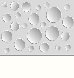 White background with paper circles on white vector image vector image