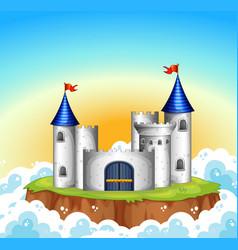 A castle on sky vector