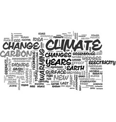 A new science for a new climate text word cloud vector