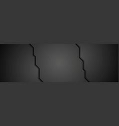 abstract black concept tech banner design vector image