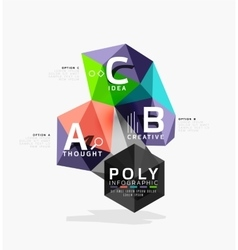 Abstract triangle option infographic template vector