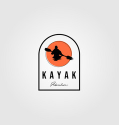 adventure kayak logo outdoor design vector image