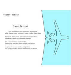 aircrafttemplate for banner poster background vector image
