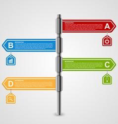 Arrow signpost business options infographics vector