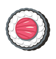 asian sushi food in cartoon style vector image