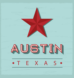 austin texas sign vector image
