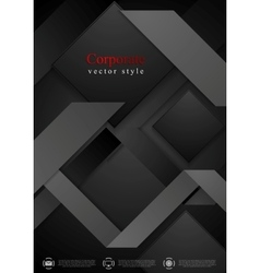 Black abstract corporate geometric background vector image
