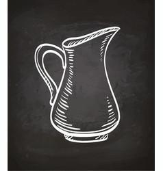 Chalk sketch of milk jug vector