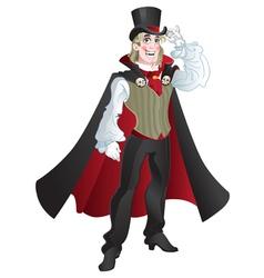 Charming vampire vector