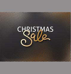 christmas greeting card halftone effect vector image