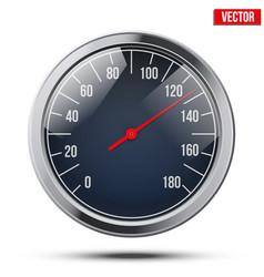 Classic round scale Speedometer vector