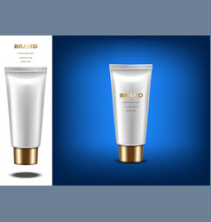 Cosmetic bottle vector