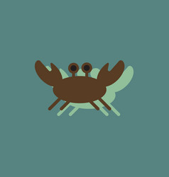 crab in cartoon style seafood product design in vector image