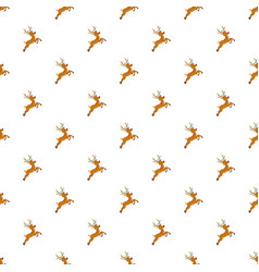 cute xmas deer pattern seamless vector image