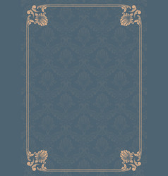 decorative frame in vintage style with beautiful vector image