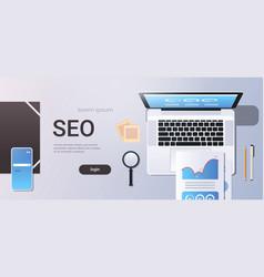 Digital marketing search engine optimization seo vector