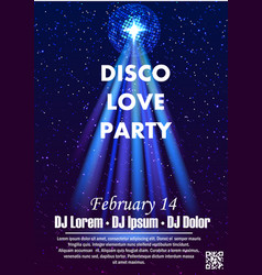Disco night party vector