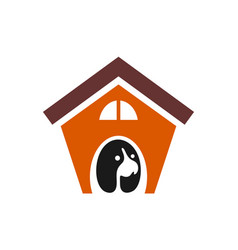 dog house logo concept icon vector image