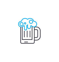 draft beer linear icon concept draft beer line vector image