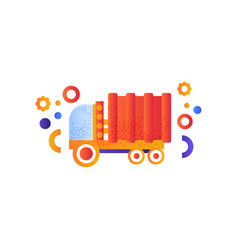 dump truck or garbage truck heavy industrial vector image