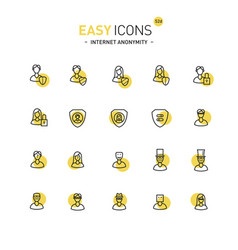 Easy icons 52d internet anonymity and privacy vector