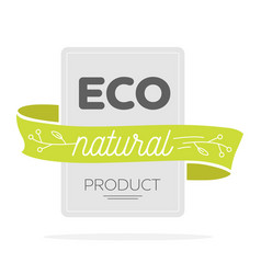 eco icon label organic tags natural product vector image vector image
