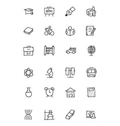 Education Hand Drawn Doodle Icons 1 vector image