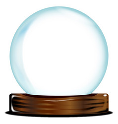 empty crystal ball vector image