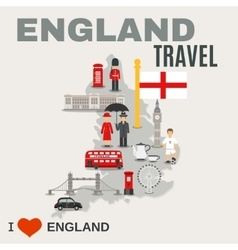 England Culture For Travelers Poster vector image