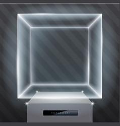 Exhibition showcase hologram vector