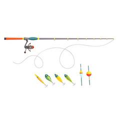 fishing fishing equipment outdoor vacation vector image