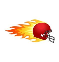 Flaming football helmet vector