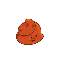 flat poop character icon vector image