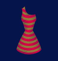 Flat shading style icon summer dress vector