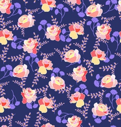 Floral pattern with roses and summer flowers vector
