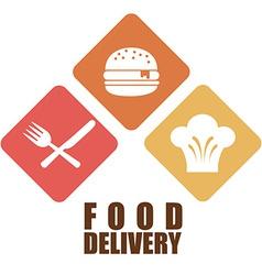 food delivery design vector image