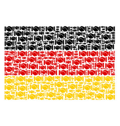 germany flag mosaic of handshake items vector image