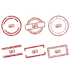 Go stamps vector image