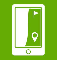 golf course navigator icon green vector image