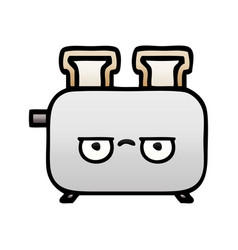 Gradient shaded cartoon a toaster vector