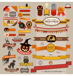 Halloween ribbons vector