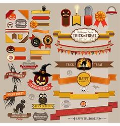 halloween ribbons vector image