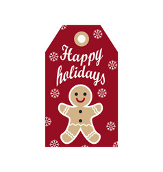 happy holidays label sample on vector image