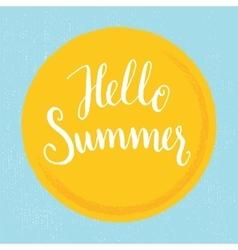 Hello summer - hand-letteting vector